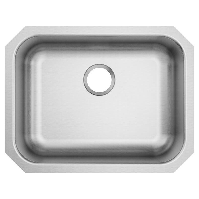 Moen 1800 Series 23 5 L X 18 25 W Undermount Single Bowl Stainless Steel Kitchen Sink Wayfair