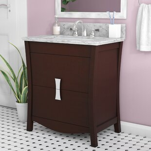 Cataldo Floor Mount 31 Single Bathroom Vanity Set with 4 Centers Faucet Mount by Royal Purple Bath Kitchen