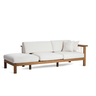 Maro Teak Chaise Lounge with Cushion