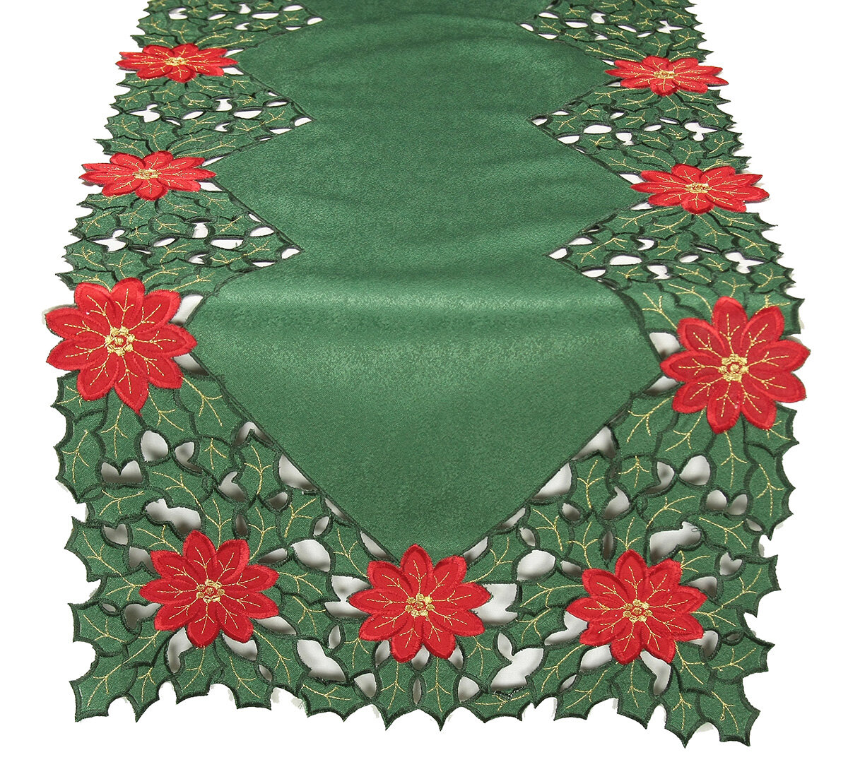 Charlton Home Shelli Embroidered Cutwork Holiday Table Runner Reviews Wayfair