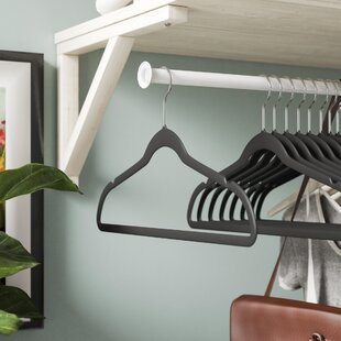 Reviews Space Saving Velvet Hangers Non Slip Heavy Duty (Set of 100) By Rebrilliant