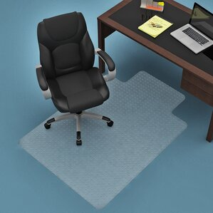 straight edge chair mat - Office Chair Mat