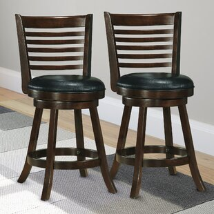 Leakey 24.75 Swivel Bar Stool (Set of 2)
