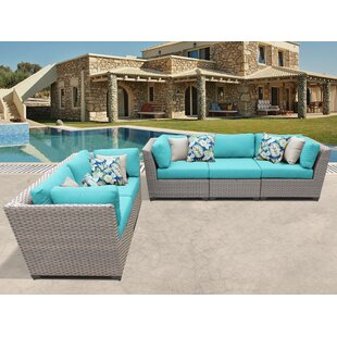 Meeks 5 Piece Sofa Seating Group with Cushions