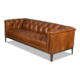 Maloney Brown Cube Sofa by 17 Stories