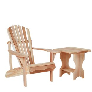 Western Adirondack Chair with Table