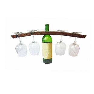 Ritner Butler 1 Bottle Tabletop Wine Bottle and Glass Rack