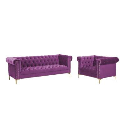 Bea Velvet Chesterfield Sofa
