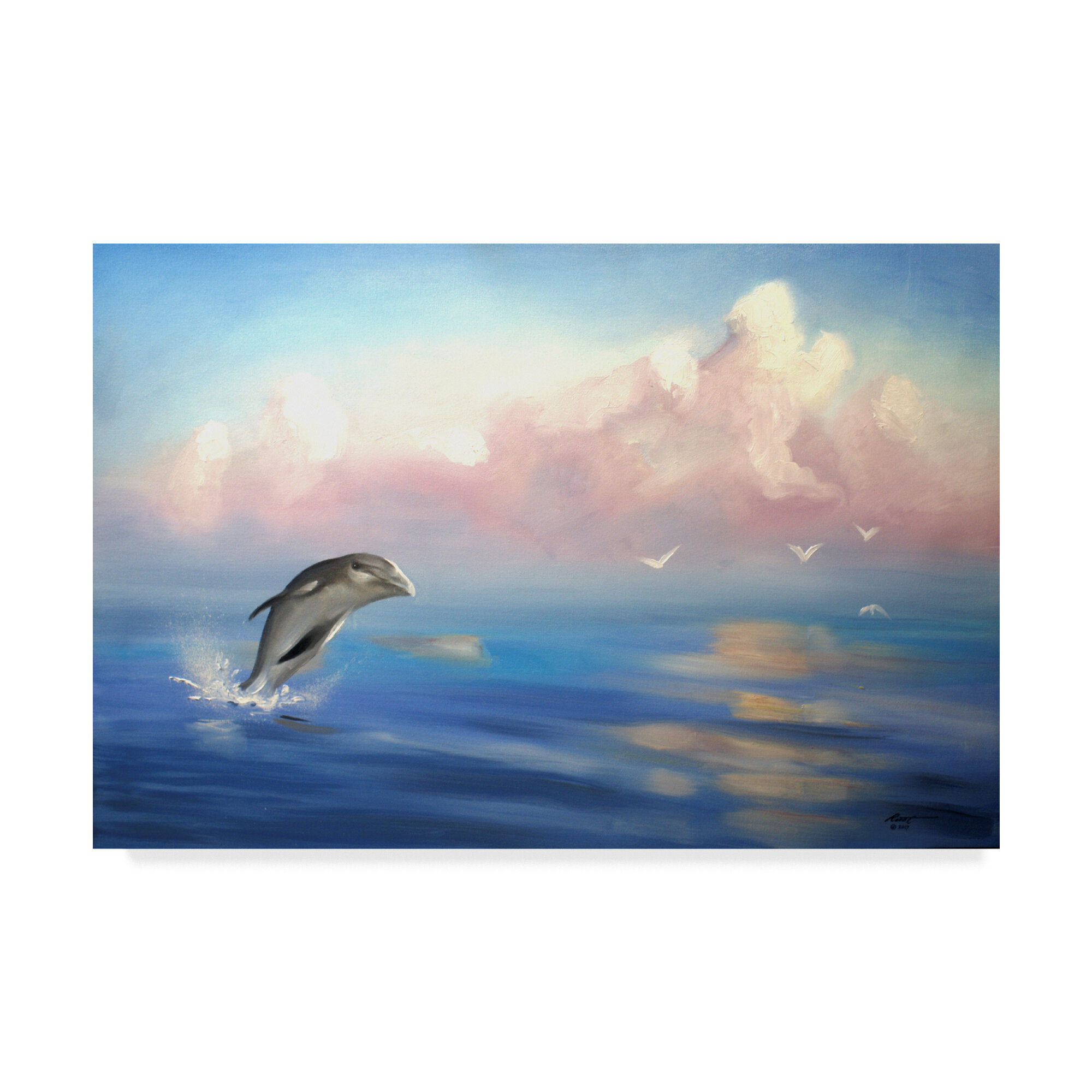 - Trademark Art 'Dolphin' Graphic Art Print On Wrapped Canvas Wayfair