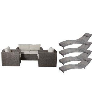 Carrigan 7 Piece Sofa Set with Cushions