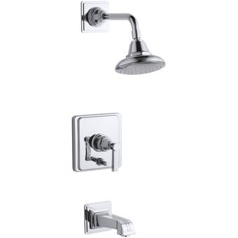 Latoscana Lady Thermostatic Tub And Shower Faucet With Rough In Valve Trim And Diverter Wayfair