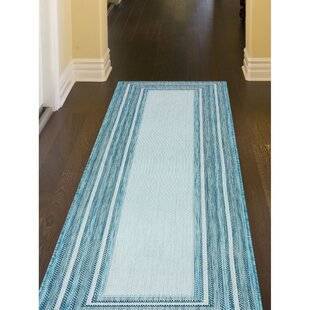 Desantiago Aqua/Gray Indoor/Outdoor Area Rug