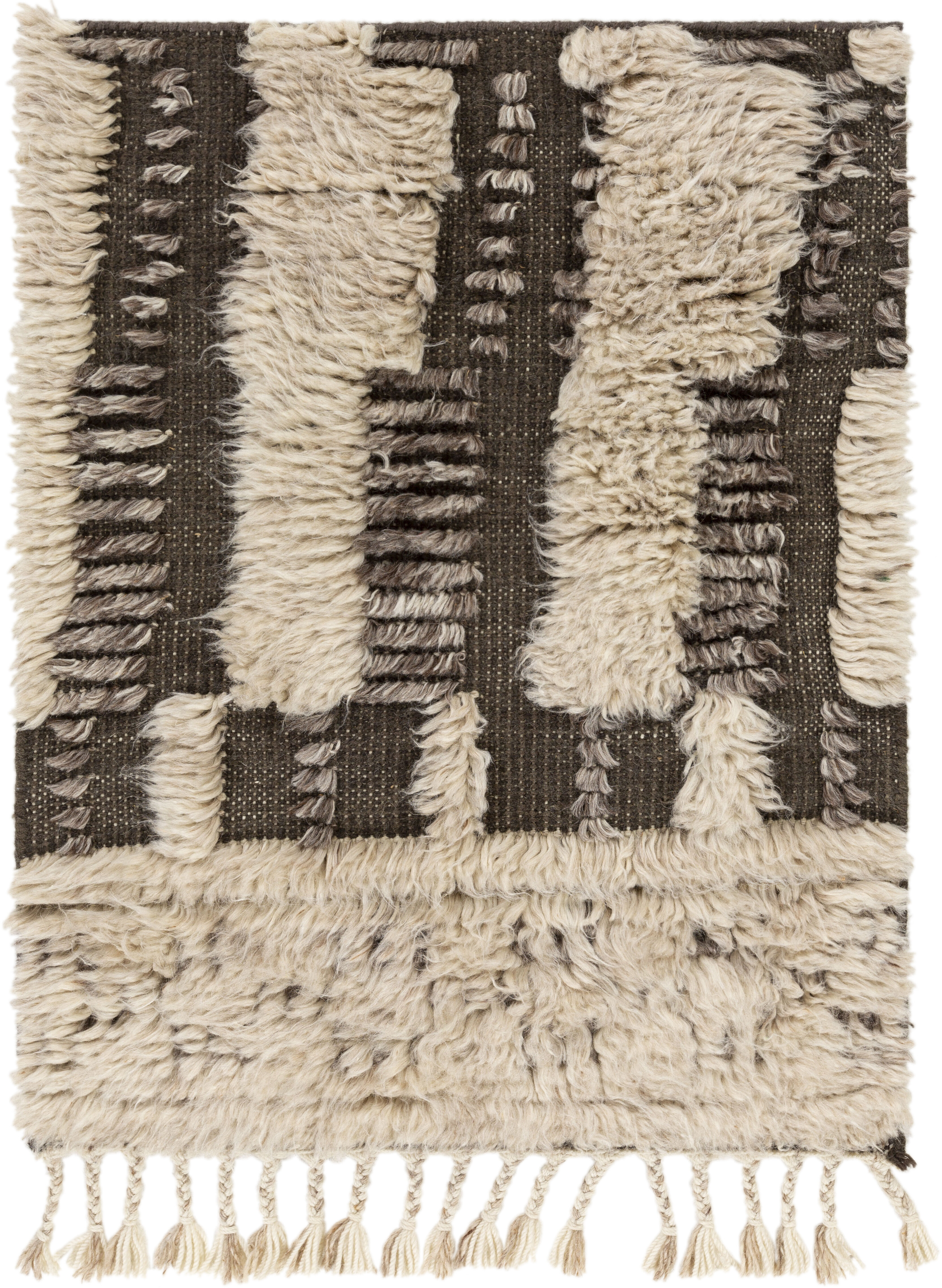 Bungalow Rose Kopia Moroccan Hand Knotted Wool Charcoal Rug Wayfair