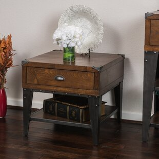 Price comparison Quinton End Table With Storage By Loon Peak