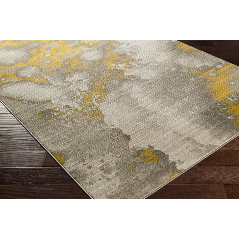 Chartwell Light Gray Gold Area Rug