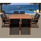 Trigg International Home Outdoor 9 Piece Dining Set