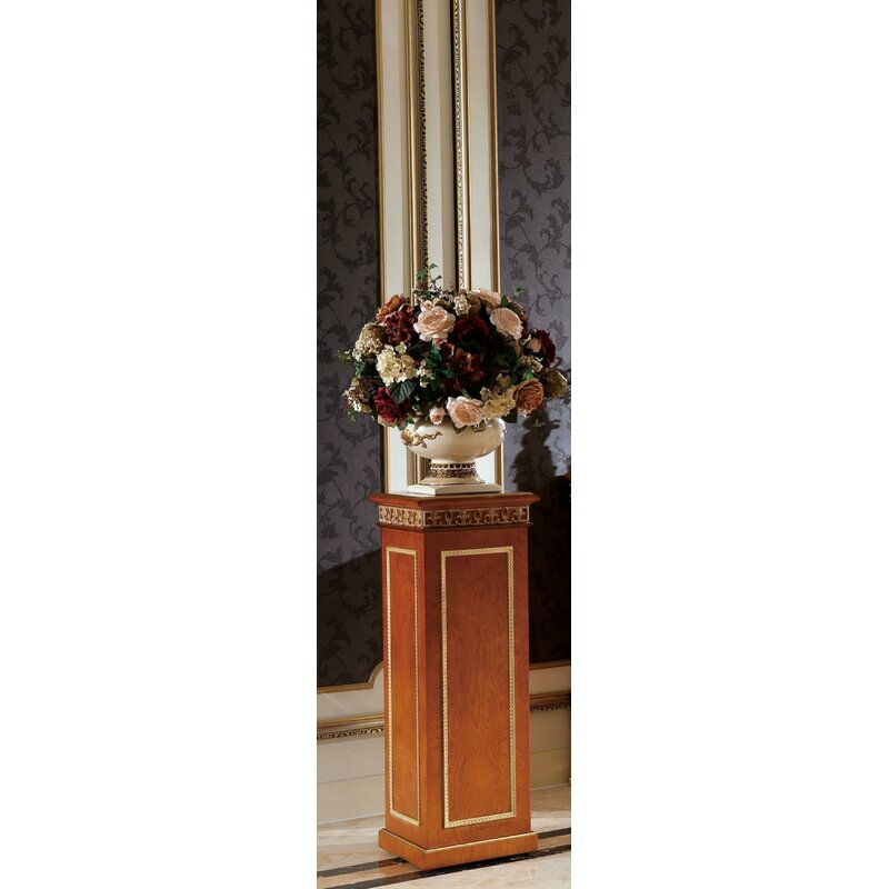 Italian Replica Spiraled Creme Plant Stand Solid Marble Column Pedestal NEW