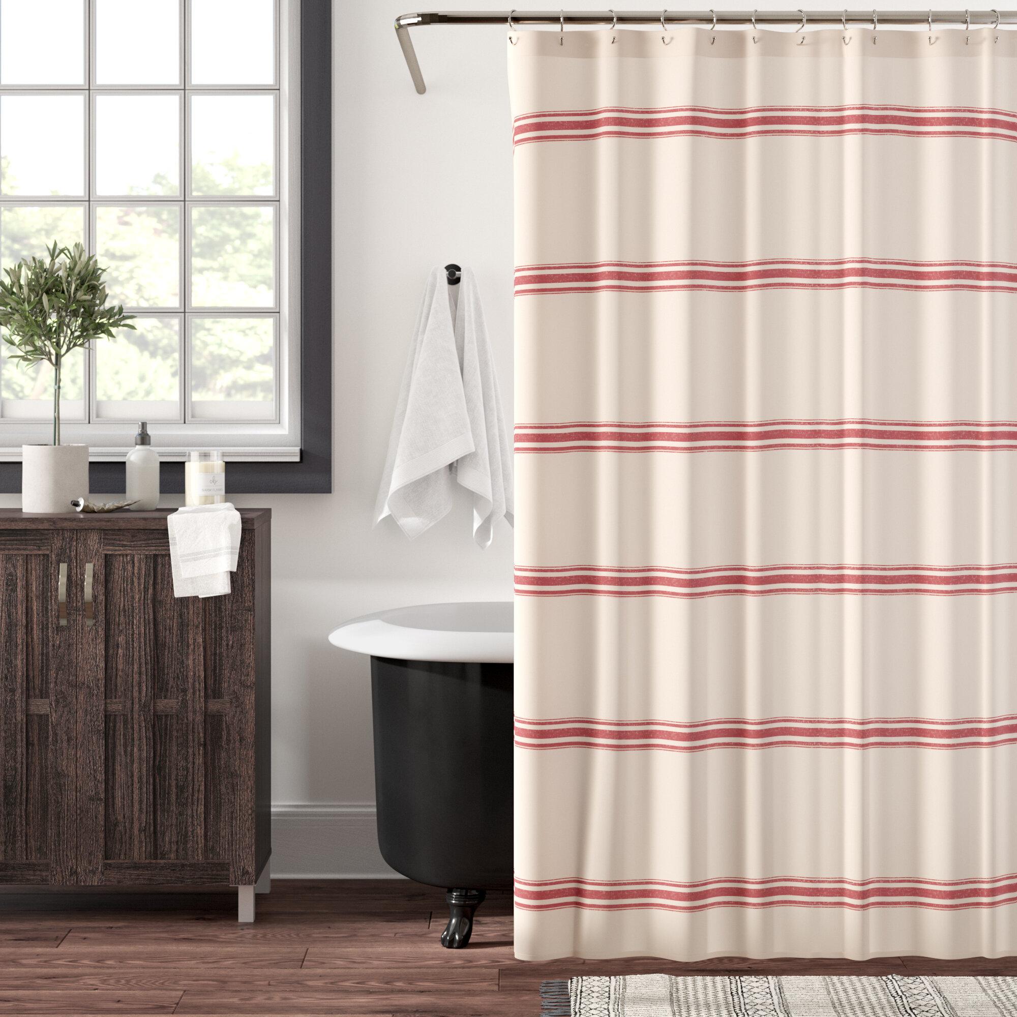 Matterson Stripe Cotton Single Shower Curtain Reviews