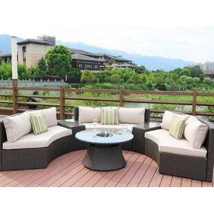 Mccarthy 6 Piece Rattan Sectional Seating Group by Rosecliff Heights Purchase