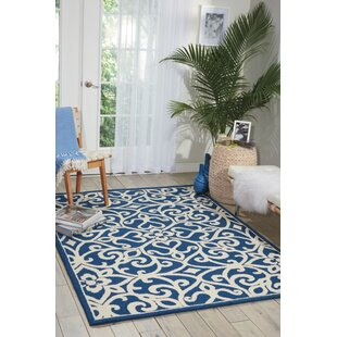 Hockenberry Hand-Woven Wool Navy/Ivory Area Rug byDarby Home Co