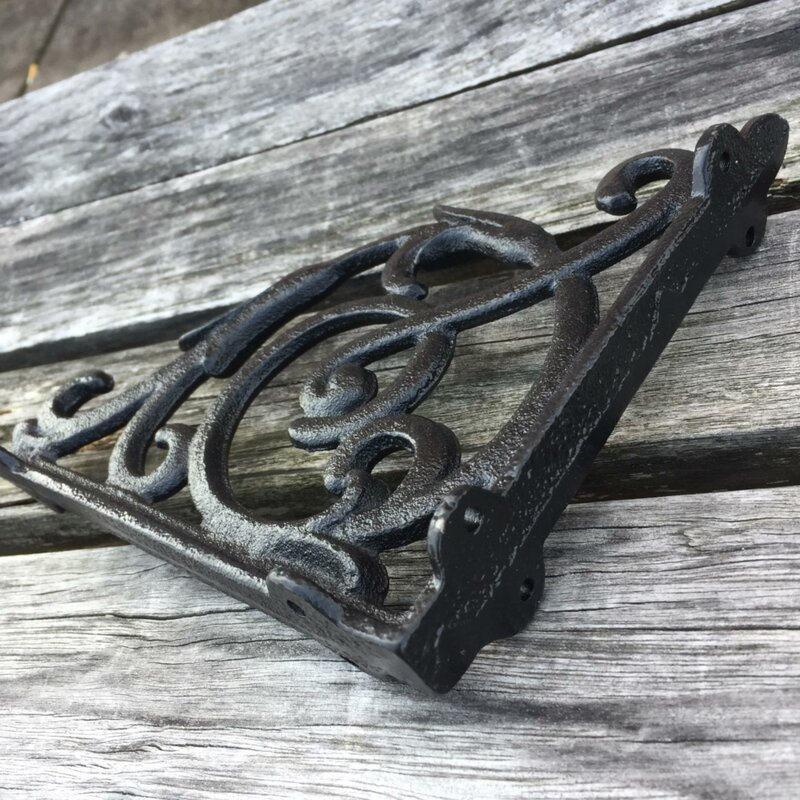 Architectural Garden New Set Of 4 Rustc Cast Iron Shelf Brackets Antique Style Classic 8 X 7 Pandeglangkab Go Id