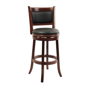 Goldenberg 29 Swivel Bar Stool by Three Posts