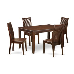 Araminta 5 Piece Solid Wood Dining Set by Alcott Hill Discount
