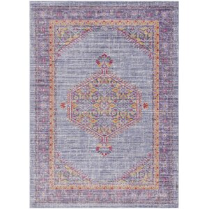 Fields Purple / Yellow Area Rug