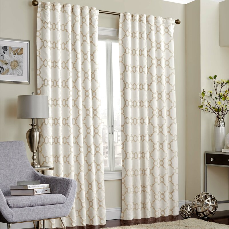 Trellis Thermal Blackout Rod Pocket Curtain Panel