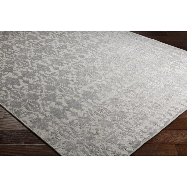 One Allium Way Rockland Hand Knotted Light Gray Rug Wayfair
