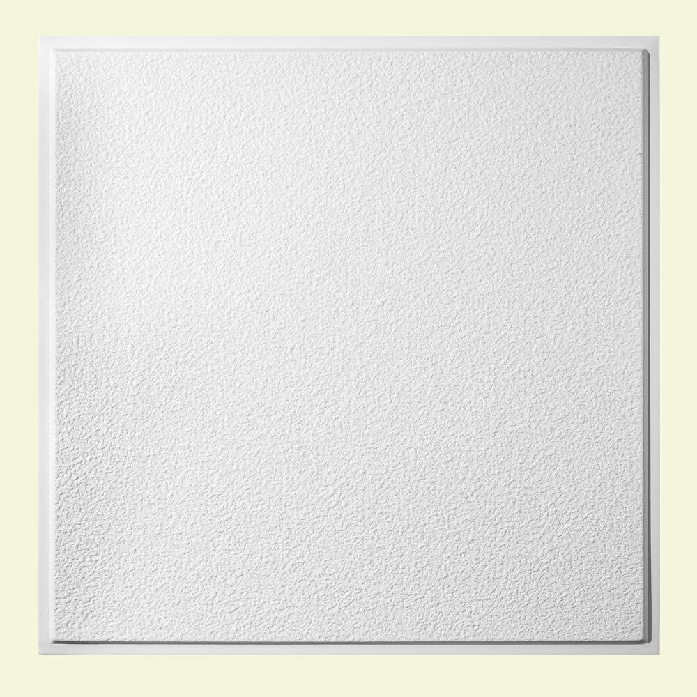 Genesis 2 Ft X 2 Ft Drop In Or Grid Mount Ceiling Tile In White Wayfair