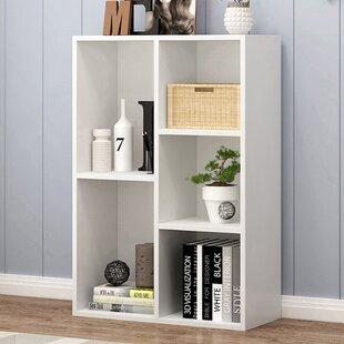 Datrell 165 H x 197 W Geometric Bookcase by Latitude Run
