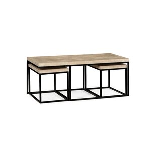 Great deal 3 Piece Coffee Table Set by Jonathan Charles Fine Furniture Reviews (2019) & Buyer's Guide
