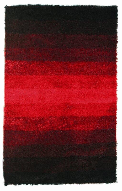 Jewel Black Red Rug