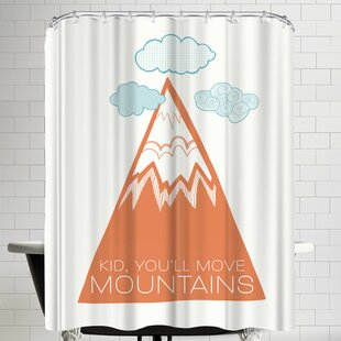 Annie Bailey Move Mountains Single Shower Curtain