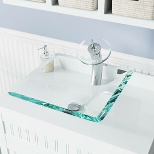 Affordable Glass Square Vessel Bathroom Sink By MR Direct