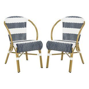 Ouatchia French Stacking Patio Dining Chair Set Of 2