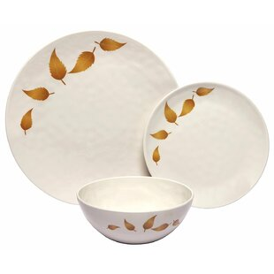Rohan Leaves 36 Piece Dinnerware Set Service for 12 (Set of 12)  sc 1 st  Wayfair & 12 Person Dinnerware Sets You\u0027ll Love