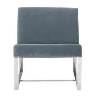 Yorba Sea Glass Velvet Upholstered Slipper Chair by Orren Ellis