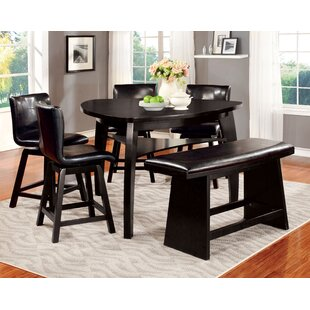 Lawrence 6 Piece Counter Height Pub Table Set Hokku Designs