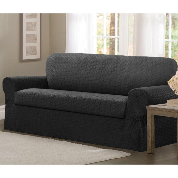 Darby Home Co Box Cushion Sofa Slipcover & Reviews