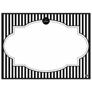 Modern Menu Placemat (Set of 24)