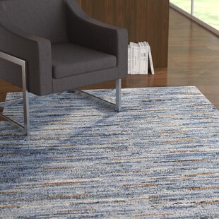 Desroches Hand-Crafted Cotton Denim Area Rug by Ebern Designs