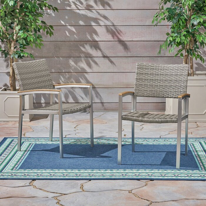 Pleasing Keeney Outdoor Patio Dining Chair Gmtry Best Dining Table And Chair Ideas Images Gmtryco