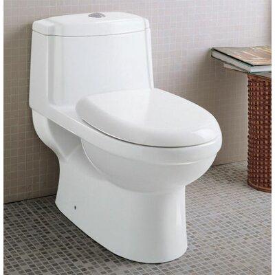 EAGO Ceramic Dual Flush Elongated One-Piece Toilet (Seat Included)