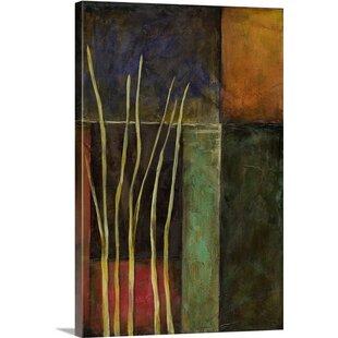zen garden ii jennifer goldberger painting print - Garden Wall Art