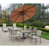 Vierzon 10 Piece Dining Set with Umbrella