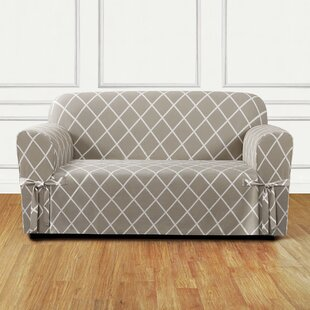 Lattice Box Cushion Loveseat Slipcover