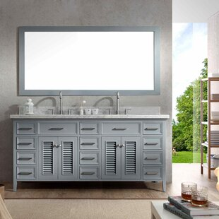 Hamil 73 Double Bathroom Vanity Set with Mirror by Highland Dunes