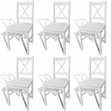 Leamon Solid Wood Cross Back Side Chair in White (Set of 6) by August Grove®